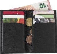 Kreditkartenbörse 'Nappa' aus Spaltleder