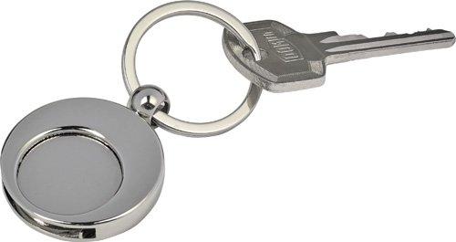 Ansicht 4 von Schlüsselanhänger 'Shopping' aus Metall mit Einkaufswagenchip