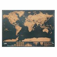 BEEN THERE Weltkarte zum Freirubbeln