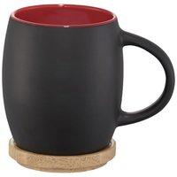 Hearth 400 ml Keramiktasse mit Holz Deckel & Untersetzer