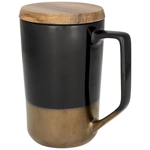 Tahoe 470 ml Keramikbecher mit Holzdeckel