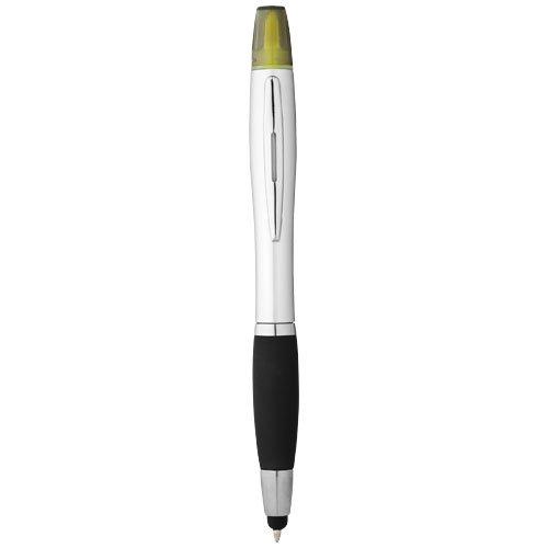 Nash Stylus Kugelschreiber und Marker silber mit farbigem Griff