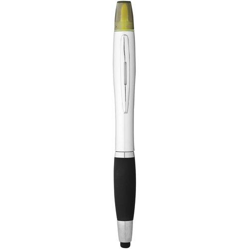 Ansicht 4 von Nash Stylus Kugelschreiber und Marker silber mit farbigem Griff