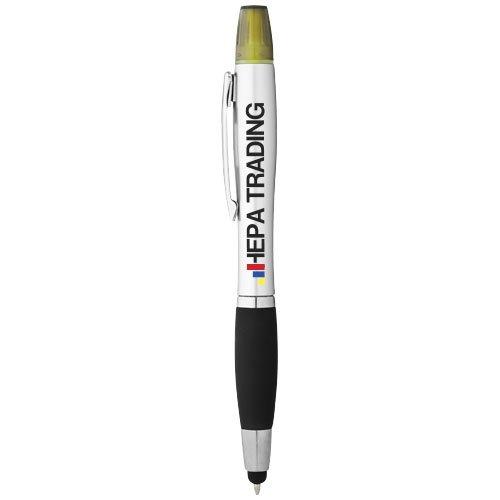 Ansicht 2 von Nash Stylus Kugelschreiber und Marker silber mit farbigem Griff
