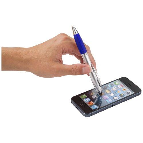 Nash Stylus Kugelschreiber silber mit farbigem Griff