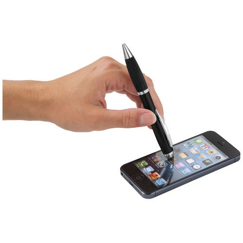 Nash Stylus Kugelschreiber farbig mit schwarzem Griff