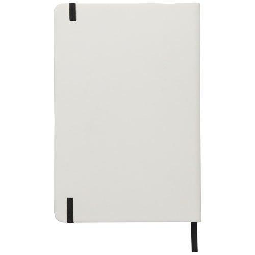Ansicht 4 von Spectrum weißes A5 Notizbuch mit farbigem Gummiband