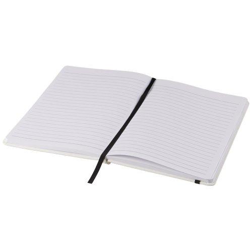 Ansicht 5 von Spectrum weißes A5 Notizbuch mit farbigem Gummiband