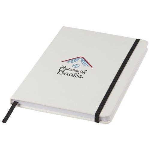 Ansicht 2 von Spectrum weißes A5 Notizbuch mit farbigem Gummiband