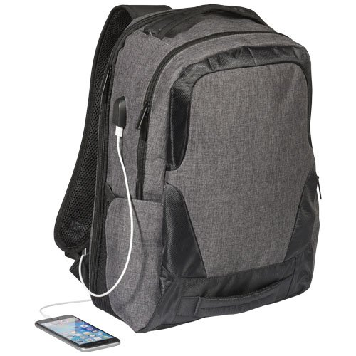 "Overland 17"" TSA Laptop-Rucksack mit USB-Anschluss"