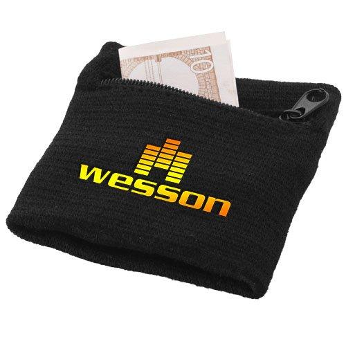 Brisky Schweißband mit Reißverschlusstasche