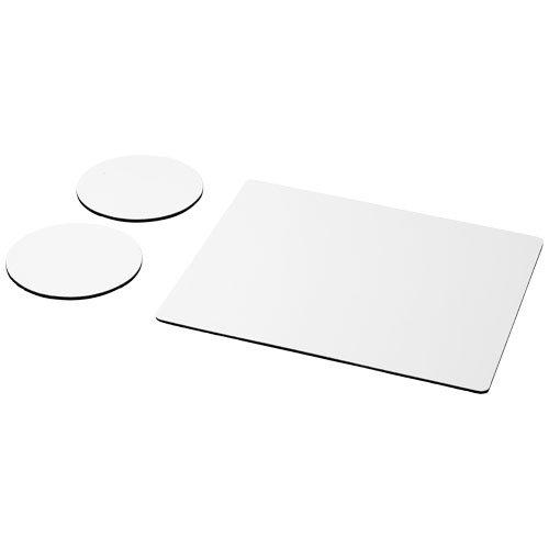 Q-Mat® Mousepad- und Untersetzer-Set Combo 2