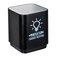 Bluetooth®-Lautsprecher mit Licht REFLECTS-GALAWAY incl. Laser engraving BLACK