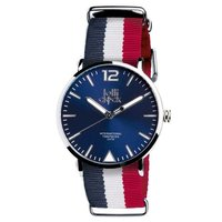 Armbanduhr LOLLICLOCK-FASHION FRANKREICH BLUE WHITE RED