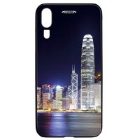 Smartphonecover REFLECTS-TG HWP20 SKYLINE BLACK