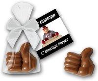 Schokoladenhand im Beutel