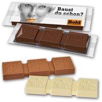 Schokoladenriegel mit Prägung