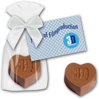 Schokoladenherz mit Prägung