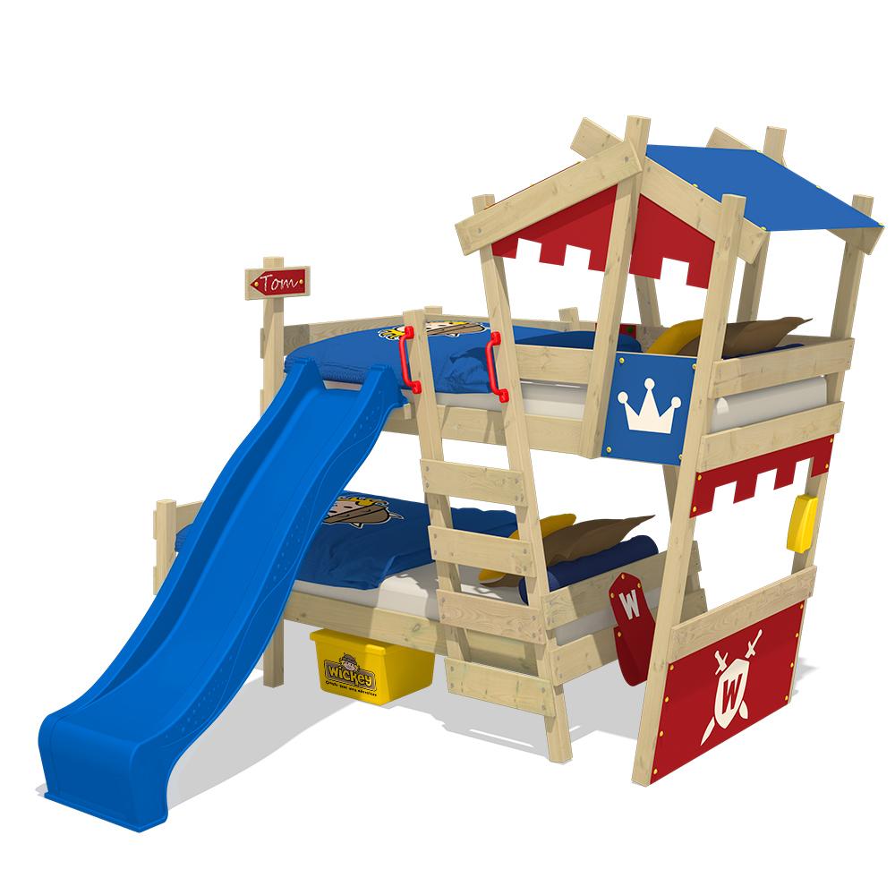 wickey hochbett kinderbett crazy castle spielbett abenteuerbett kinder hausbett ebay. Black Bedroom Furniture Sets. Home Design Ideas