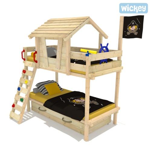 wickey etagenbett wood land duo spielbett jugendbett. Black Bedroom Furniture Sets. Home Design Ideas