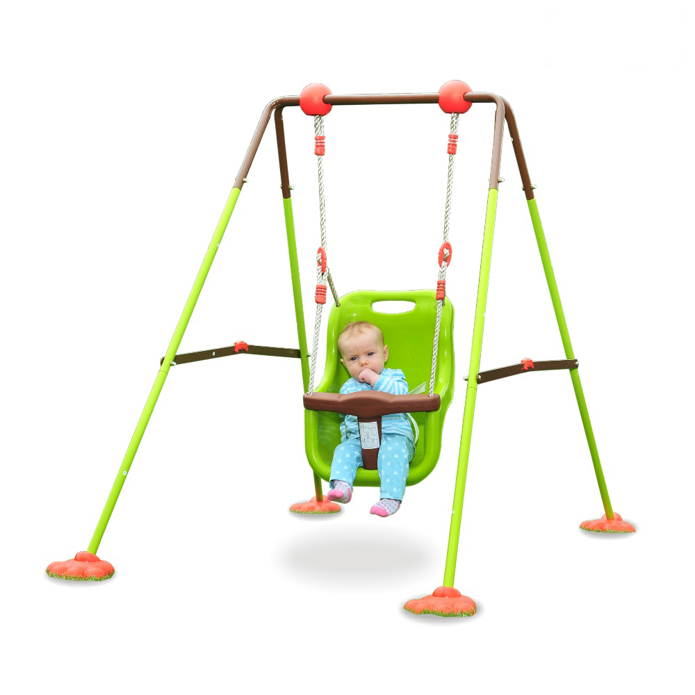 wickey babyschaukel mit gestell soulet kleinkindschaukel ger st spielturm garten ebay. Black Bedroom Furniture Sets. Home Design Ideas