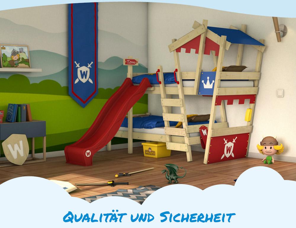 Etagenbett Mit Rutsche Wickey : Wickey hochbett kinderbett crazy castle spielbett abenteuerbett
