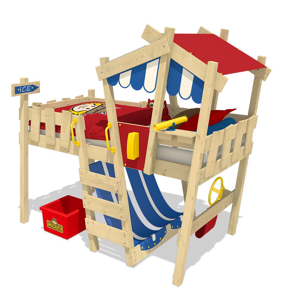wickey lit mezzanine crazy hutty lit cabane lit enfant ebay. Black Bedroom Furniture Sets. Home Design Ideas