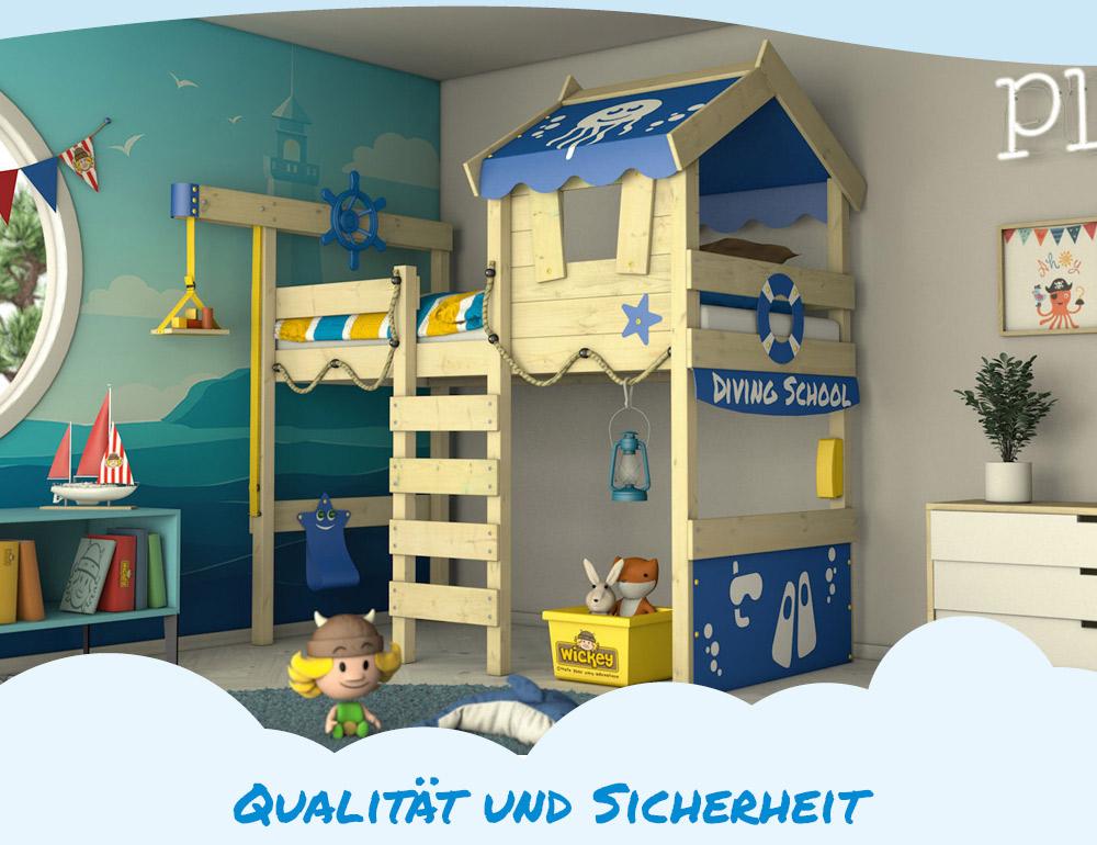 wickey hochbett kinderbett crazy jelly spielbett abenteuerbett kinder 90x200 cm ebay. Black Bedroom Furniture Sets. Home Design Ideas