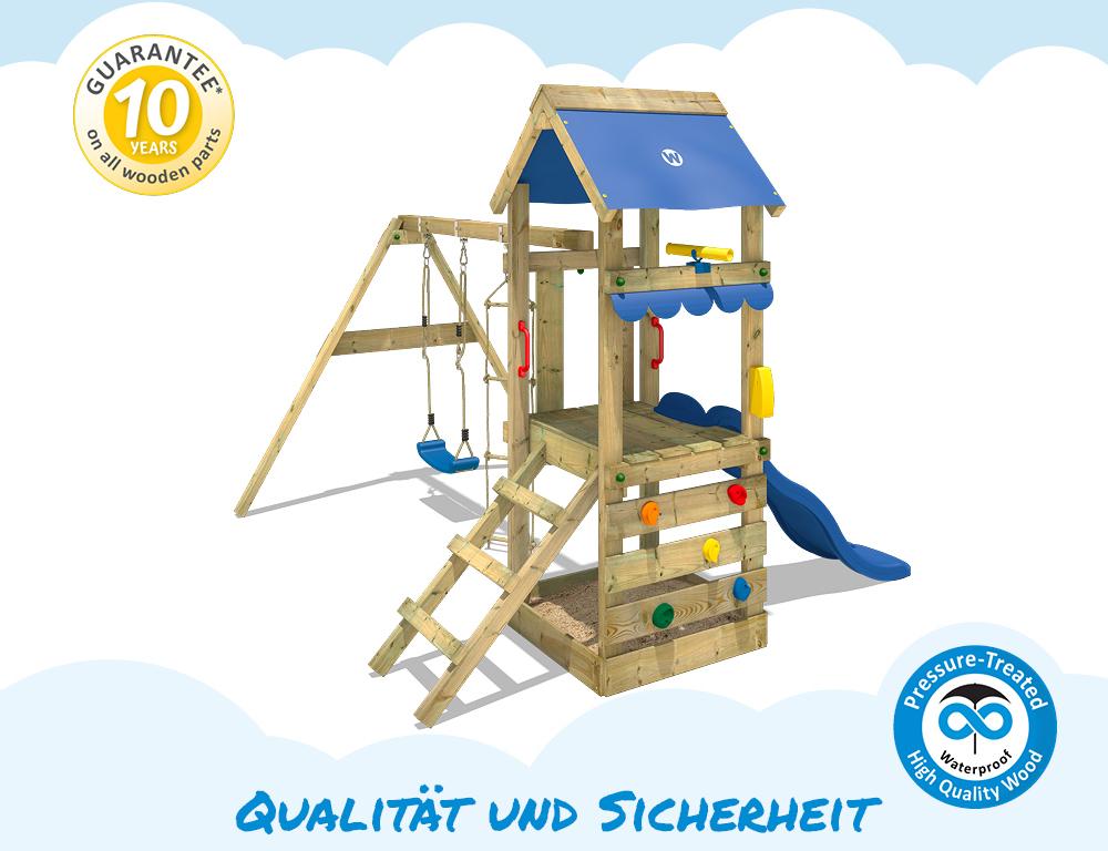 wickey freshflyer spielturm kletterturm schaukel sandkasten rutsche holz ebay. Black Bedroom Furniture Sets. Home Design Ideas