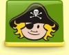 Aufkleberset Pirat