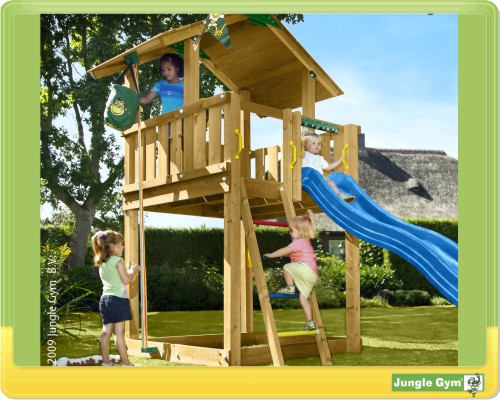 jungle gym chalet baupaket spielturm selbstbau kit ebay. Black Bedroom Furniture Sets. Home Design Ideas