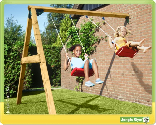 jungle gym swing module schaukel anbau spielturm wand ebay. Black Bedroom Furniture Sets. Home Design Ideas