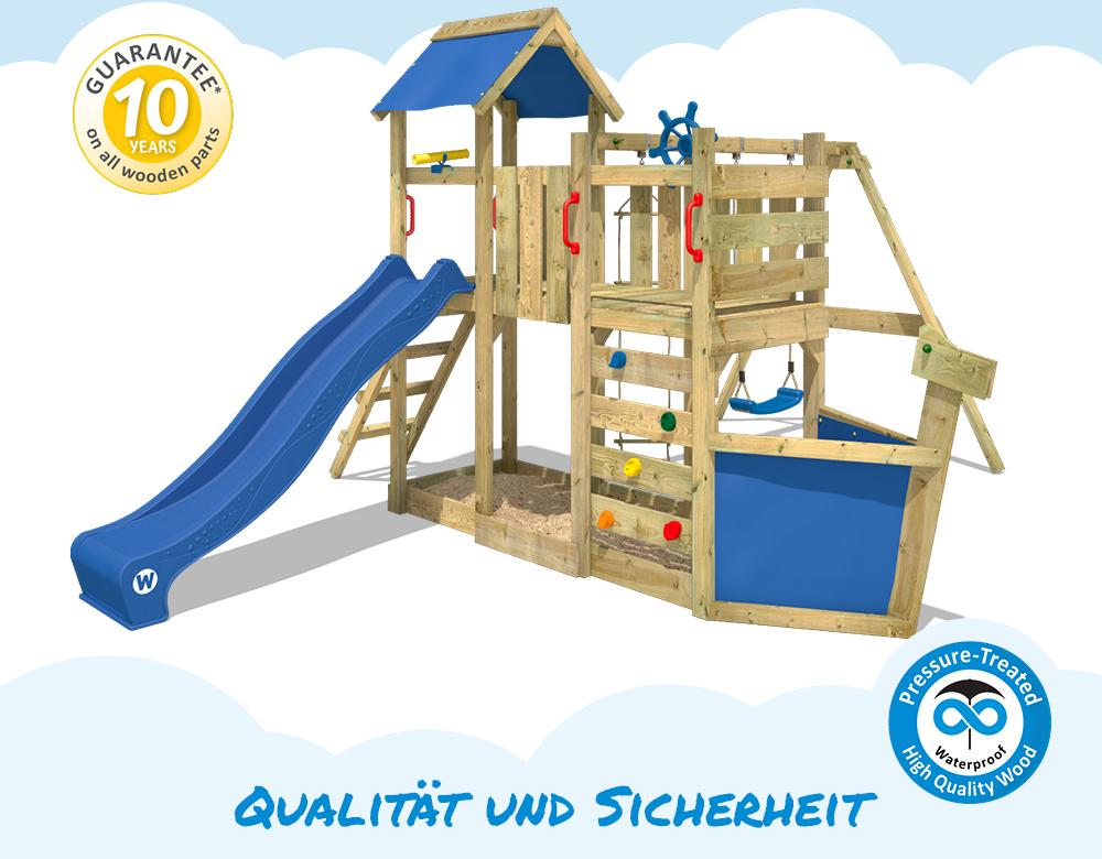 wickey oceanflyer spielturm kletterger st schaukel kletterturm rutsche spielhaus 4250533923468. Black Bedroom Furniture Sets. Home Design Ideas