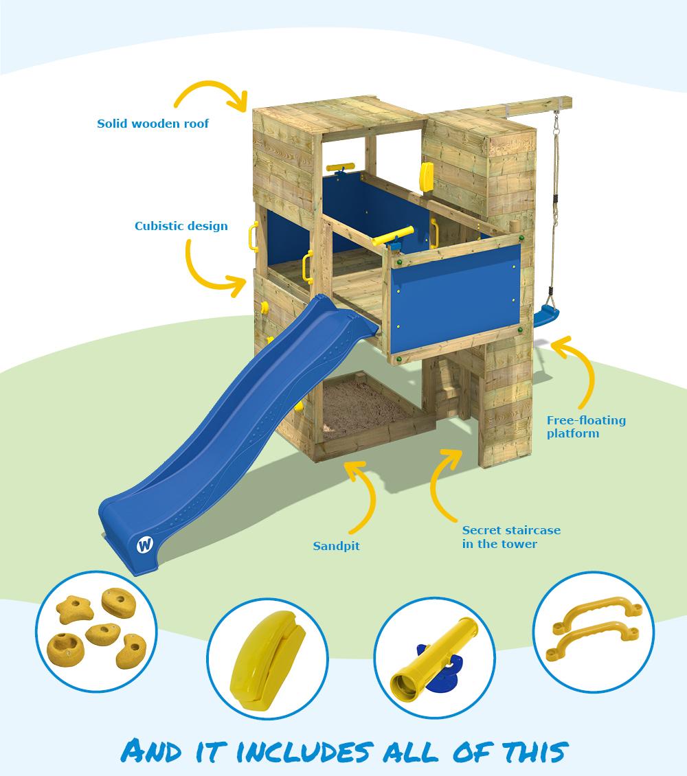 Wickey Smart Cube Climbing Frame Playhouse Woodentower