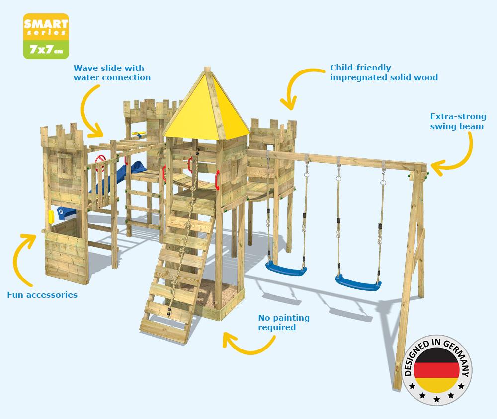 Wickey Smart Excalibur Climbing Frame Kids Garden