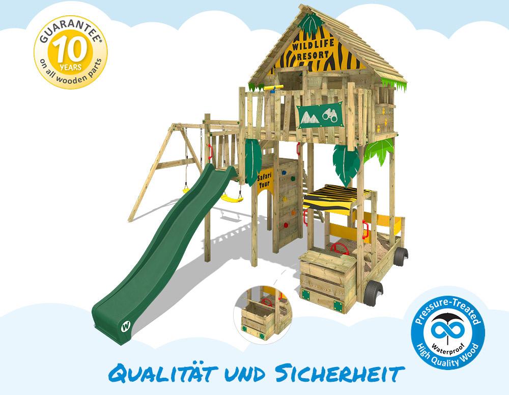 WICKEY Smart Explore Baumhaus Spielturm Klettergerüst Rutsche ...