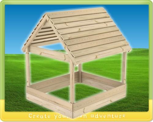 sandkasten villa fantastico holzdach dach 135x155cm ebay. Black Bedroom Furniture Sets. Home Design Ideas