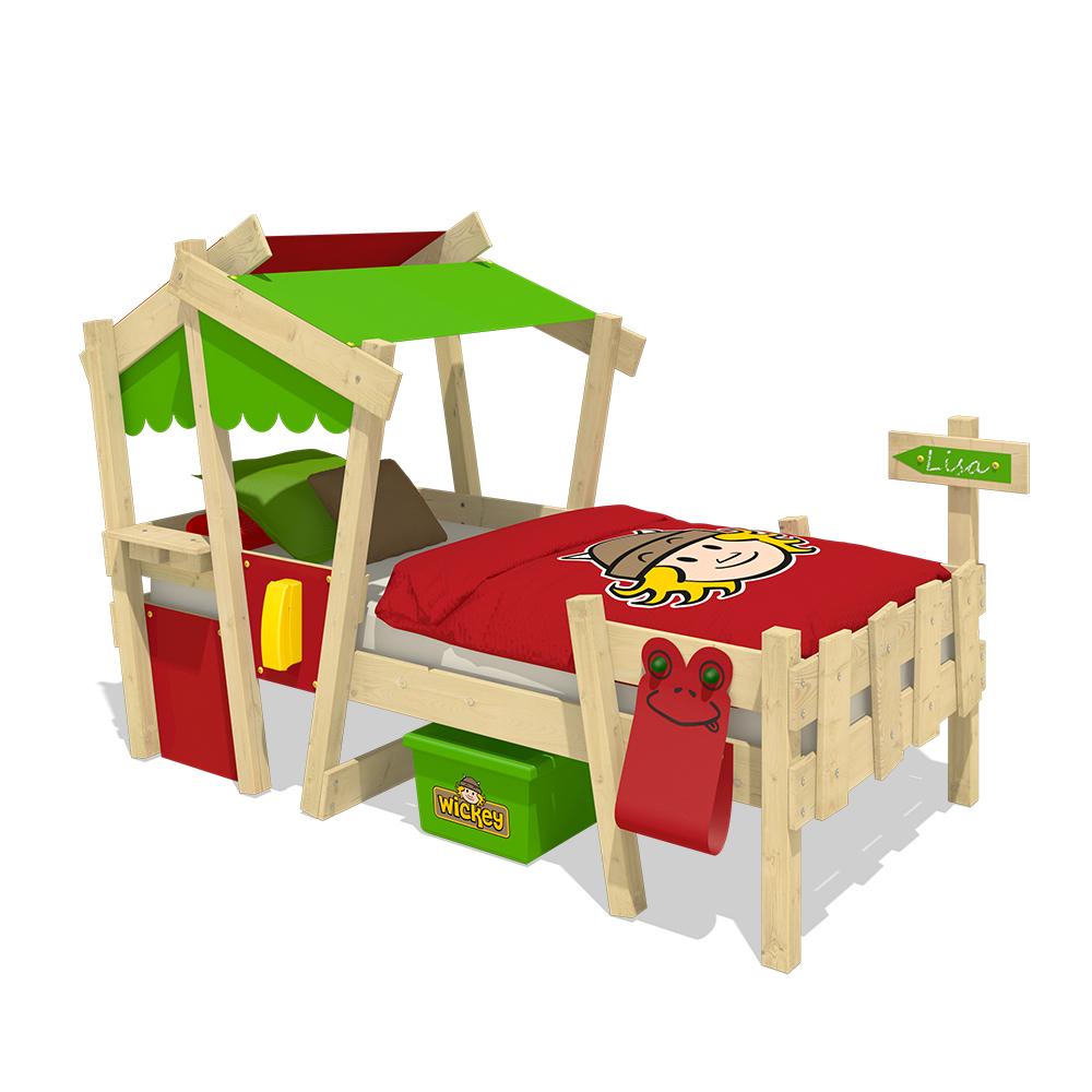 wickey kinderbett mit dach crazy candy spielbett. Black Bedroom Furniture Sets. Home Design Ideas