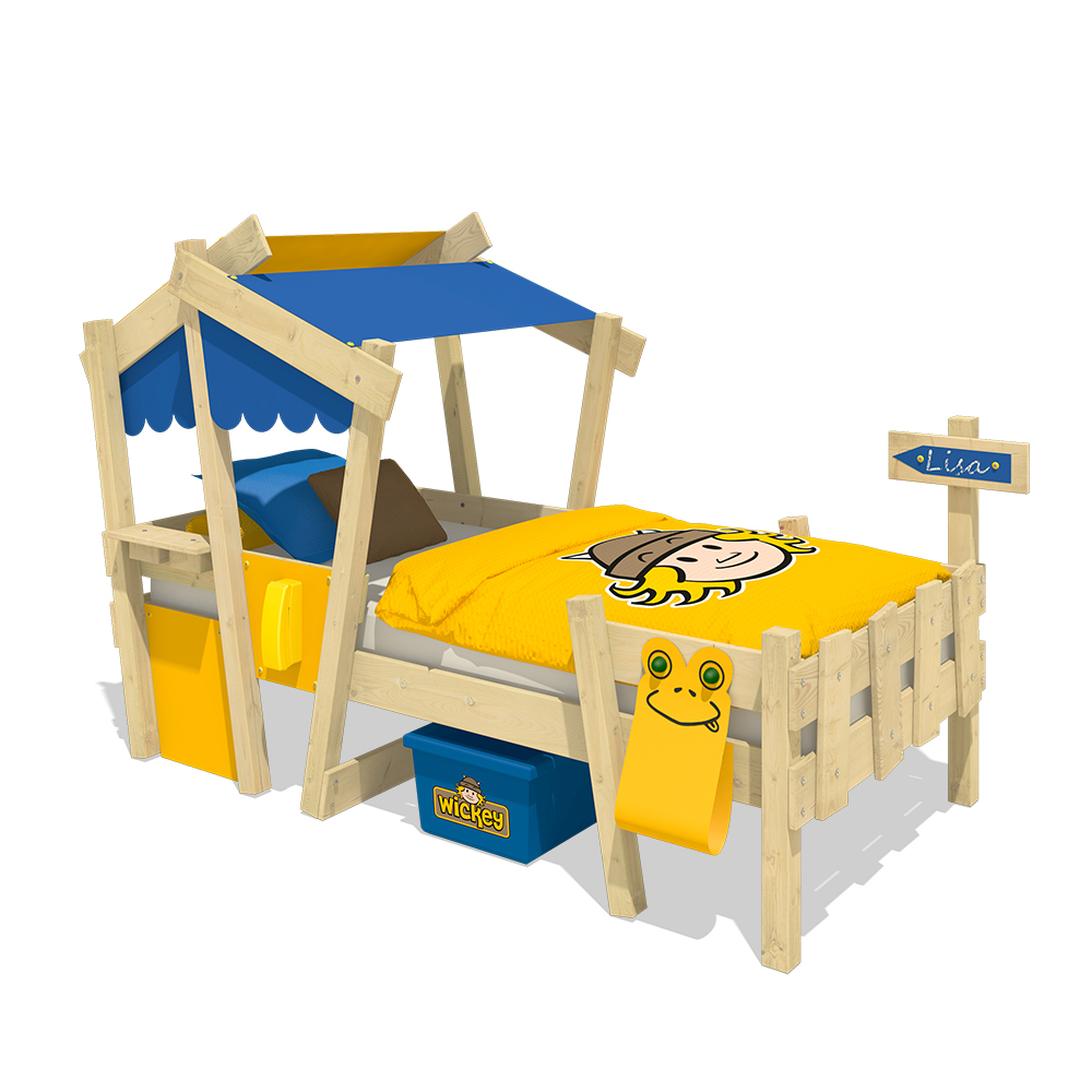 wickey lit enfant crazy candy lit simple lit cabane avec sommier lattes ebay. Black Bedroom Furniture Sets. Home Design Ideas