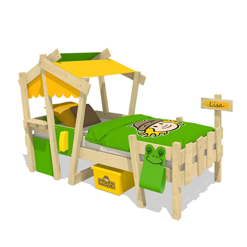 wickey kinderbett mit dach crazy candy spielbett abenteuerbett massivholz ebay. Black Bedroom Furniture Sets. Home Design Ideas