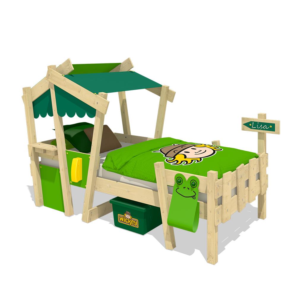 wickey lit enfant crazy candy lit simple lit cabane avec sommier lattes ebay. Black Bedroom Furniture Sets. Home Design Ideas