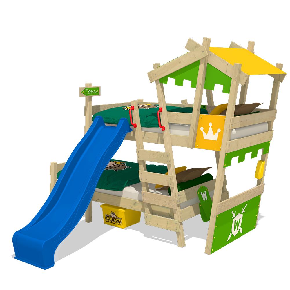 Wickey lit superpos avec toboggan crazy castle lit enfant lit cabane ebay - Lit cabane avec toboggan ...