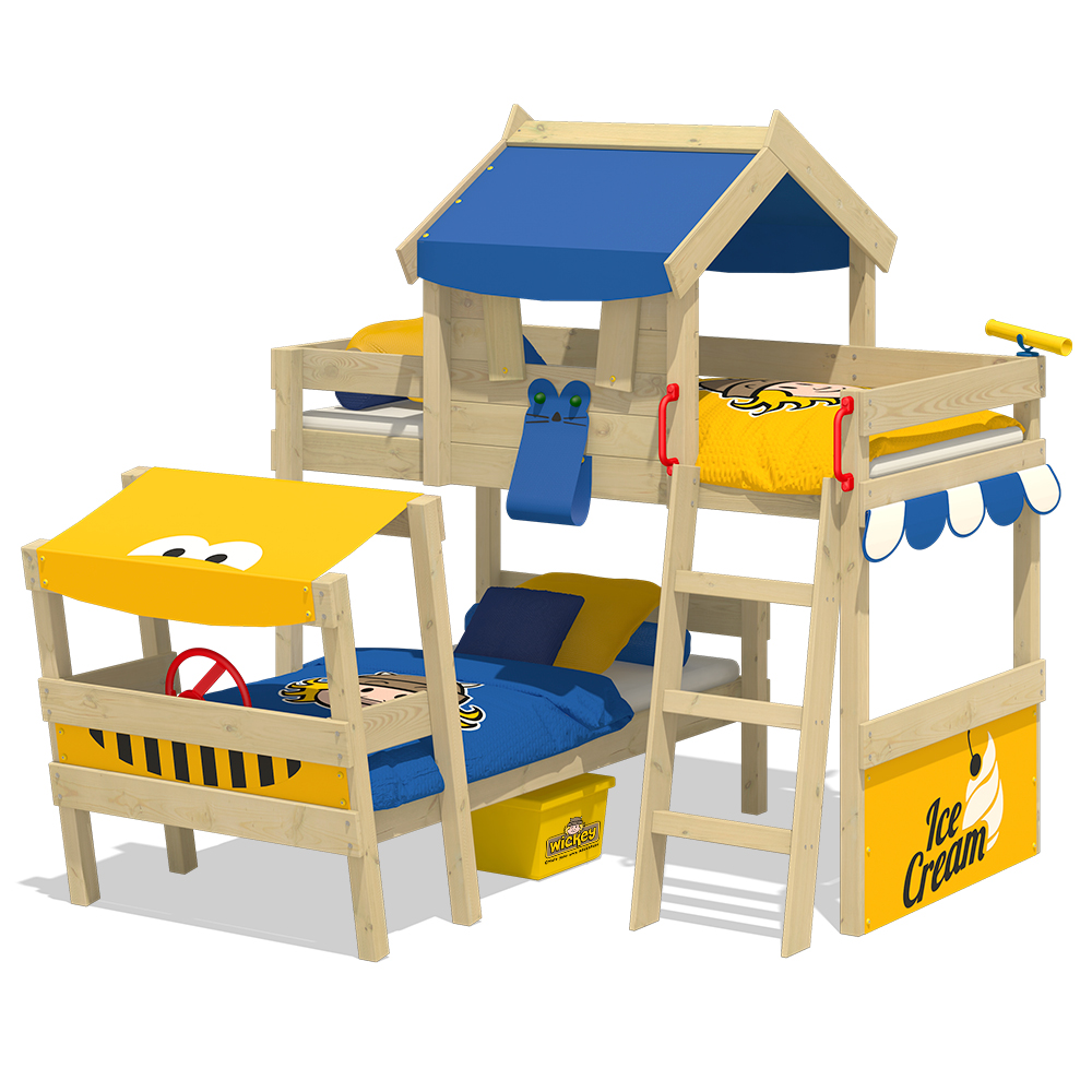 wickey lit superpos crazy trunky lit enfant lit cabane ebay. Black Bedroom Furniture Sets. Home Design Ideas