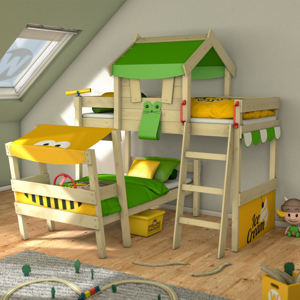 wickey hochbett kinderbett crazy trunky spielbett abenteuerbett etagenbett ebay. Black Bedroom Furniture Sets. Home Design Ideas