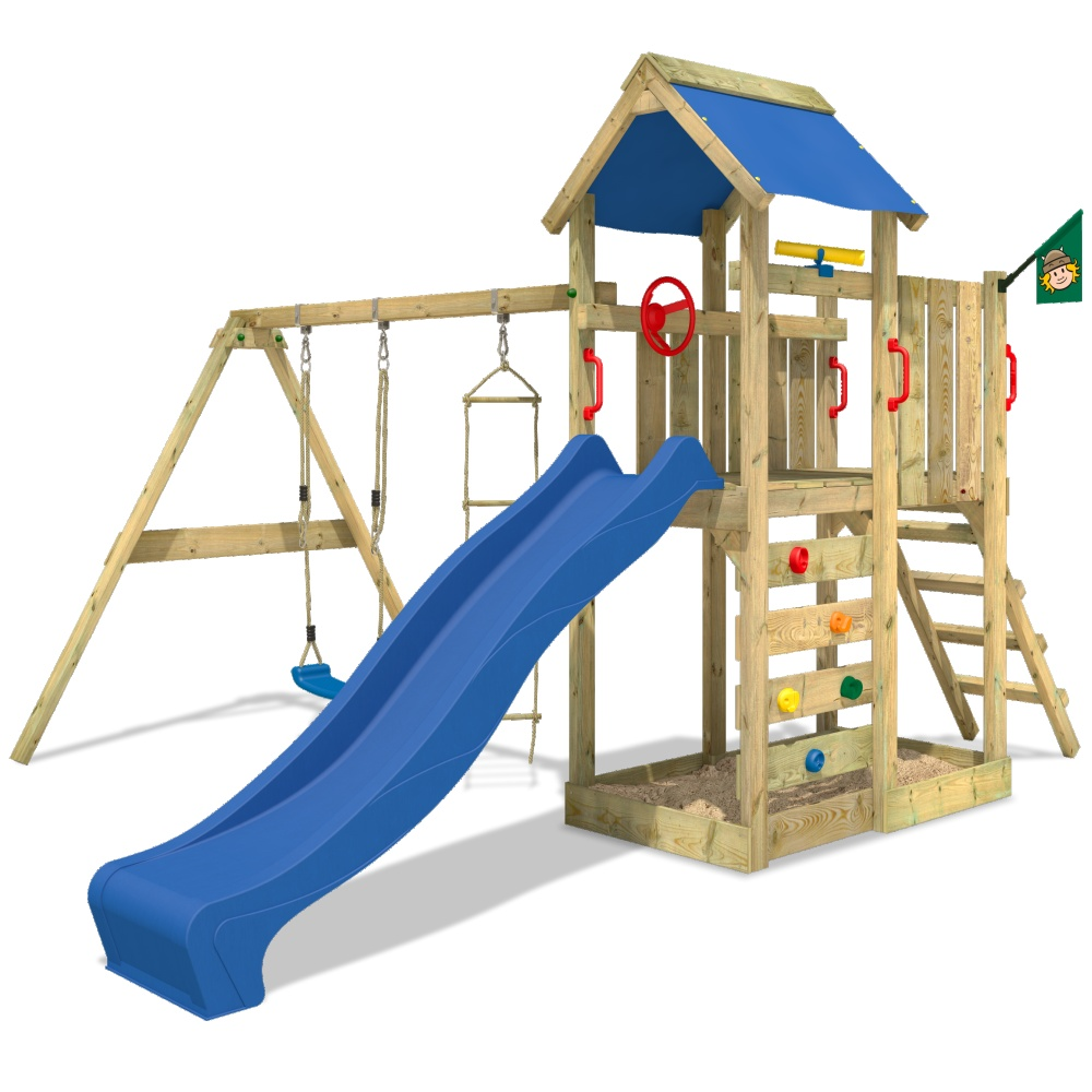 wickey multiflyer climbing frame wood swing set slide outdoor garden ebay. Black Bedroom Furniture Sets. Home Design Ideas