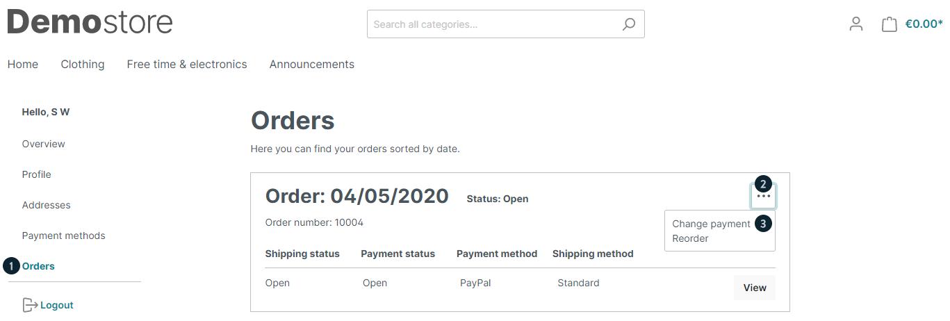 Orders betalen