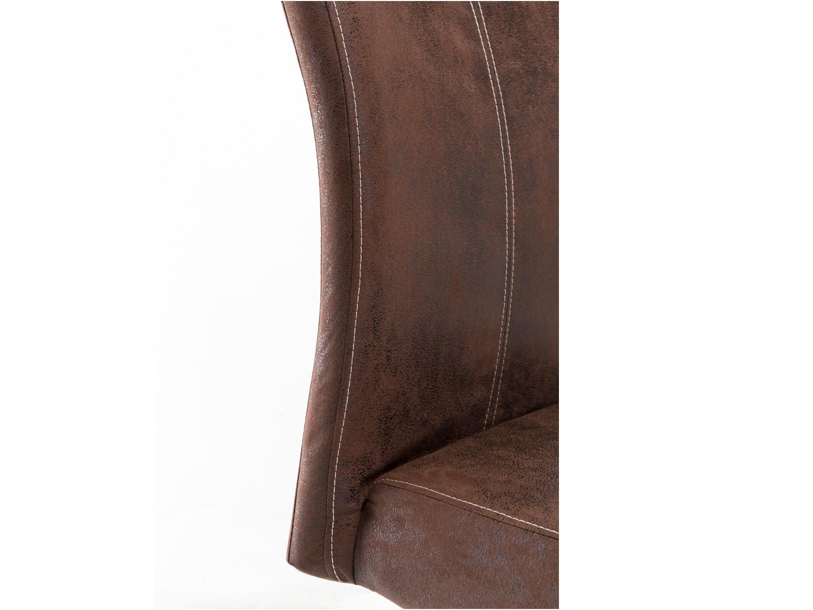 2x schwingstuhl riverton stoff braun freischwinger. Black Bedroom Furniture Sets. Home Design Ideas