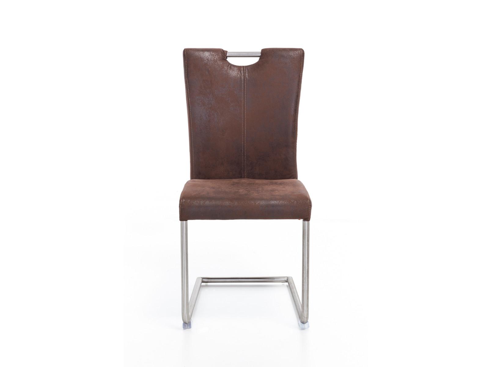 4 x schwingstuhl reefton stoff braun freischwinger. Black Bedroom Furniture Sets. Home Design Ideas