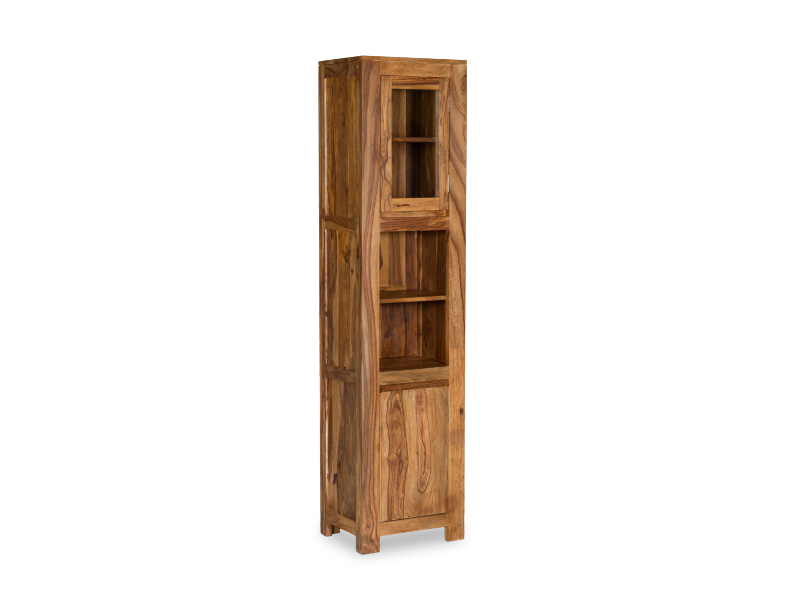badm bel hochschrank palisander massiv holz wandschrank badschrank 185cm leeston ebay. Black Bedroom Furniture Sets. Home Design Ideas
