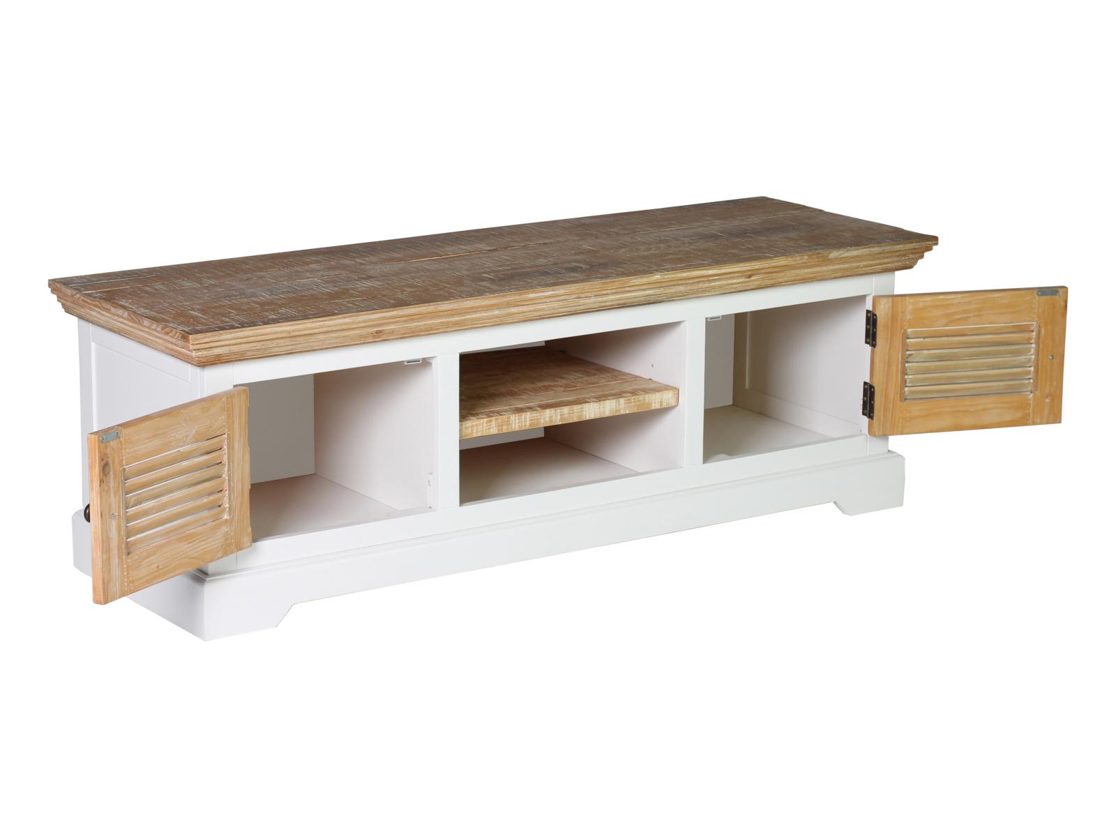 tv bank manila 150x50 wei echt holz pinie lowboard tv m bel wohnzimmerm bel. Black Bedroom Furniture Sets. Home Design Ideas